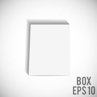 ホワイトボックスモックアップ段ボールパッケージeps 10