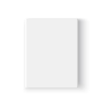 흰색 상자. 꾸러미. 삽화.