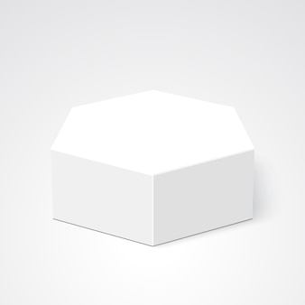 White box. package. polyhedron.  .