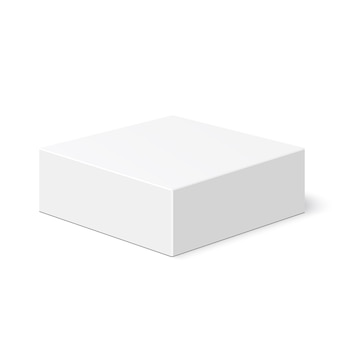 흰색 상자. 꾸러미. .