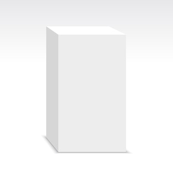 White box. pedestal. package.  illustration.