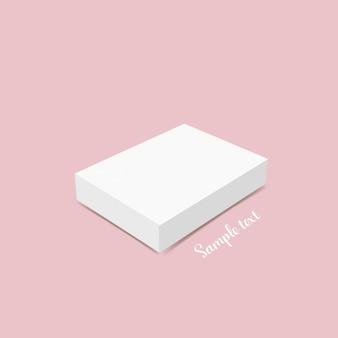Белая коробка дизайн шаблона