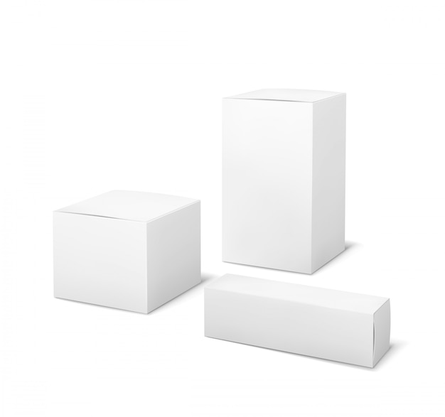 White boxes set