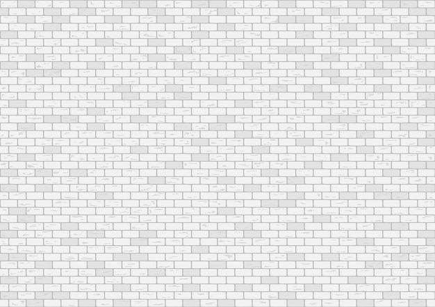 White brick wall background vector illustration