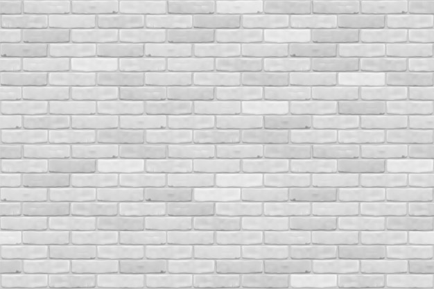 White brick wall texture background for wallpaper, graphic web , , game. realistic seamless  pattern.