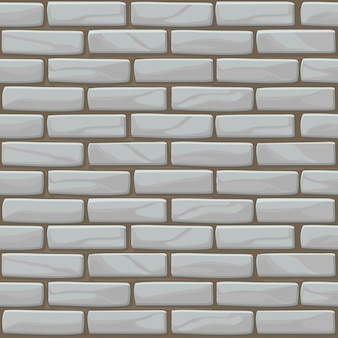 White brick wall texture seamless. illustration stones wall in grey color. seamless pattern