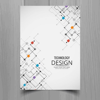 White brochure, technological style