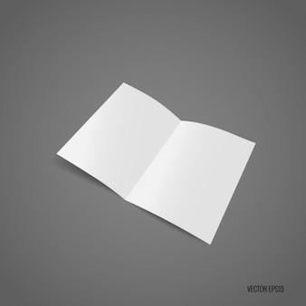 ホワイトパンフレットのテンプレートデザイン