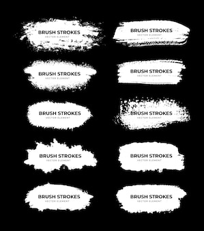 White brush stroke collection