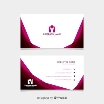 White and burgundy visiting card
