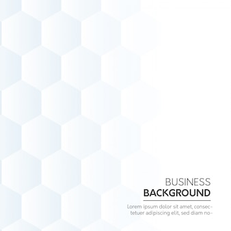 White business background with hexagonal shapes