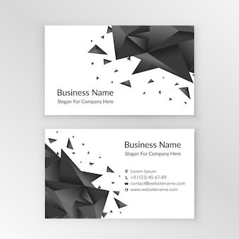 Белый шаблон визитной карточки