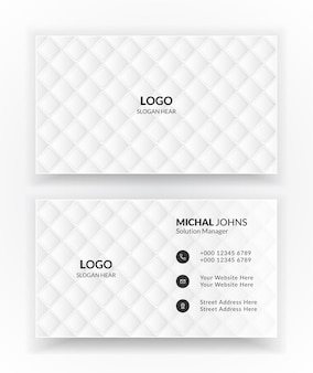 White business card templates.