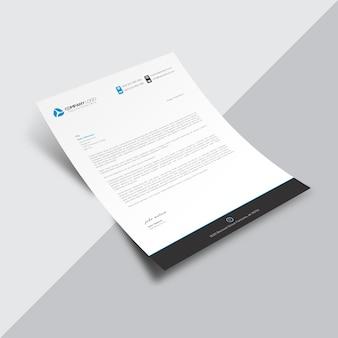黒い細部を持つ白いビジネス文書