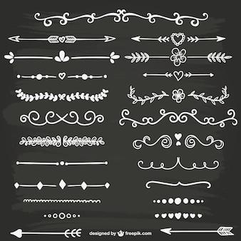 White calligraphic ornaments