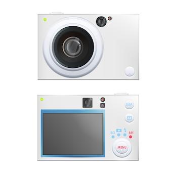 白いカメラのデザイン