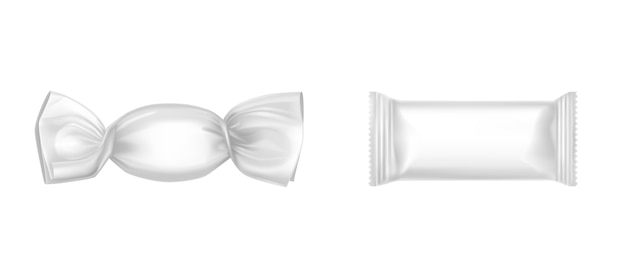 White candy wrappers set