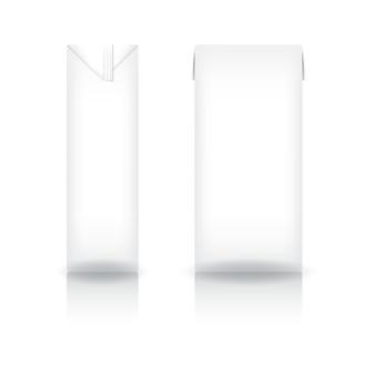 White carton box for milk, juice, coffee, tea, coconut milk or dairy product