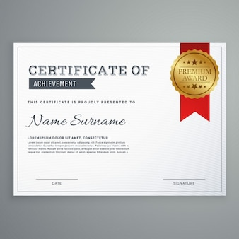 White certificate with a golden seal