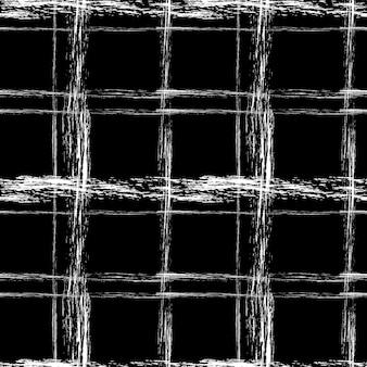 Белая меловая клетка на черном фоне