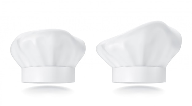White chef hat. photorealistic