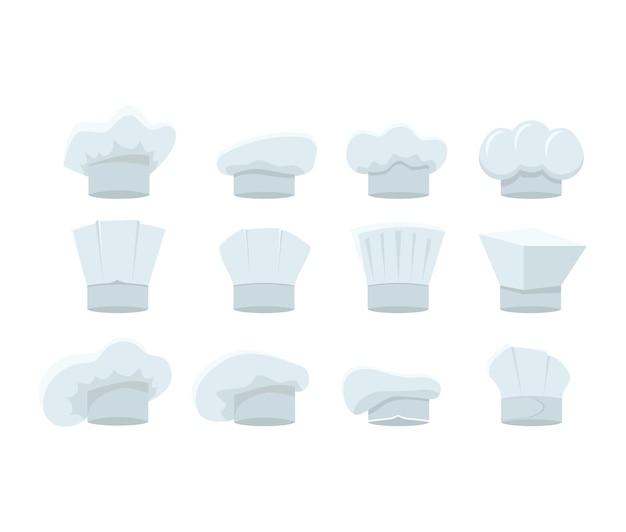 Набор белых шляп шеф-повара