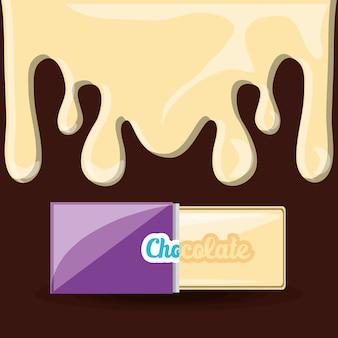 화이트 초콜릿 바 아이콘