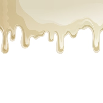White chocolate drips background