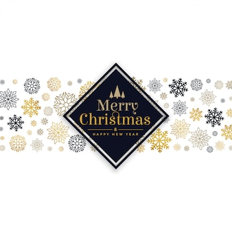 White christmas card with snowflakes pattern design