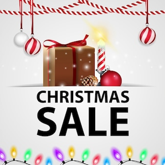 White christmas discount banner