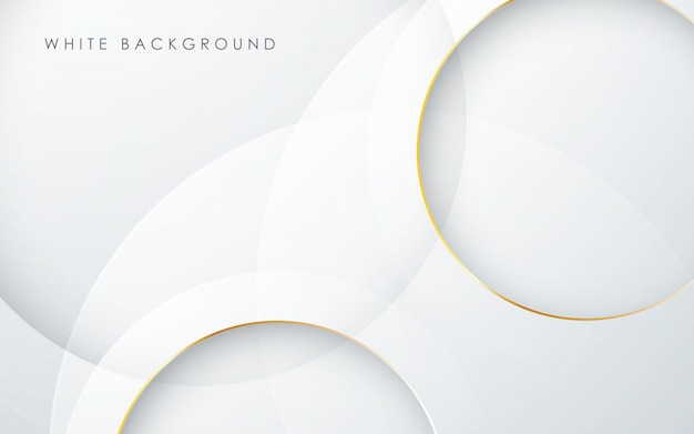White circle background with gold line effect