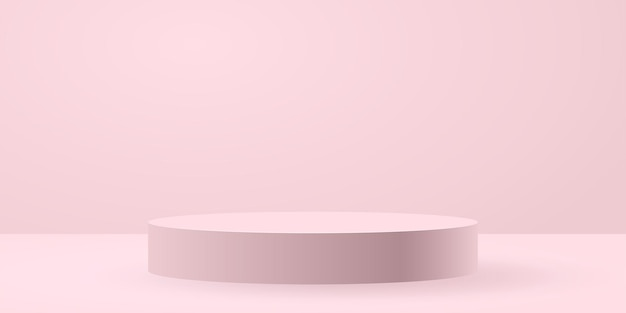 White circle stage background