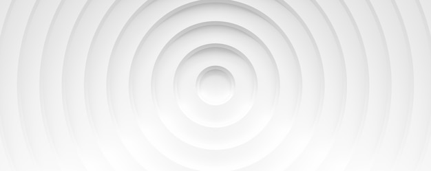 Белые круги с тенями. абстрактный баннер