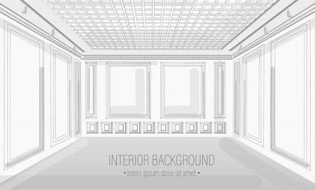 White classic interior design