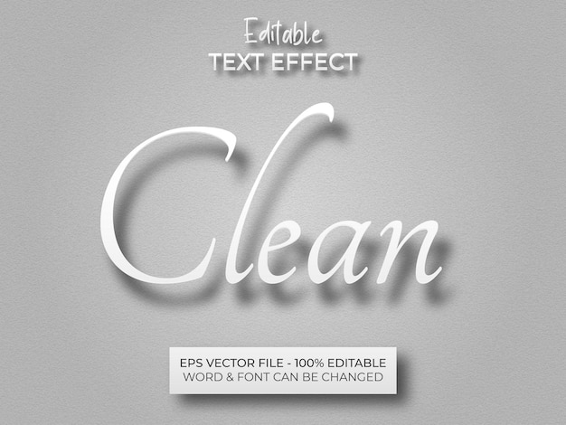 White clean text effect editable text effect paper theme