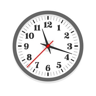 Изолированные белый значок часов