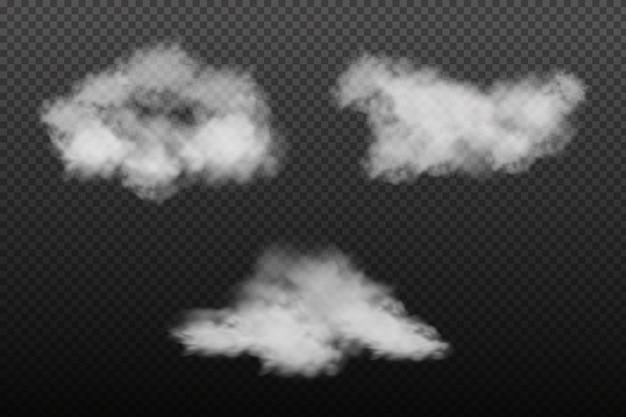 Белая облачность, туман или дым