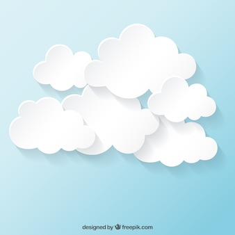 White clouds collection Vector | Free Download