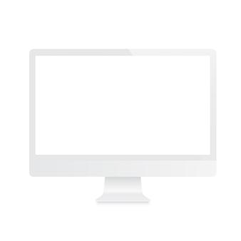 White computer monitor.
