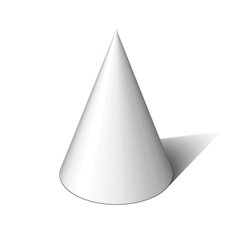 White cone.