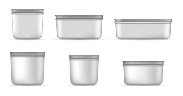 食品用の白い容器
