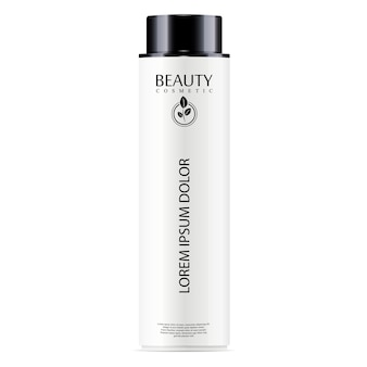 White cosmetic bottle facial toner, hair shampoo