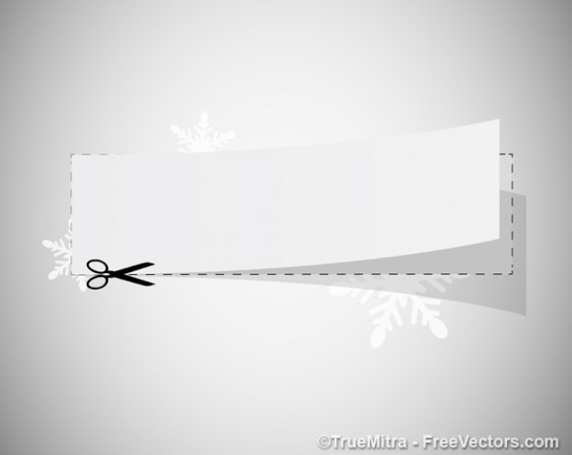 White coupon with scissors