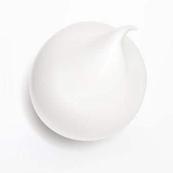 ホワイトクリーム、リアルなイラスト。