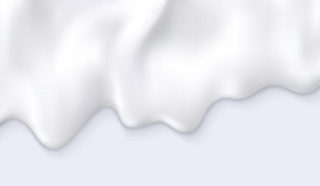 화이트 크림 우유 drips 추상적 인 배경