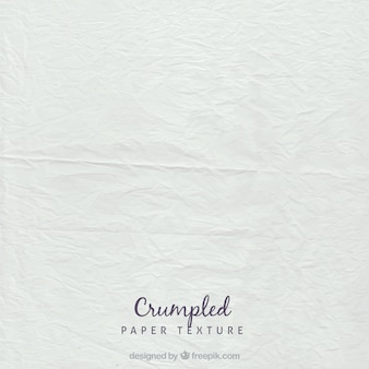 White crumpled sheet texture Premium Vector