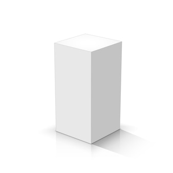 White cuboid