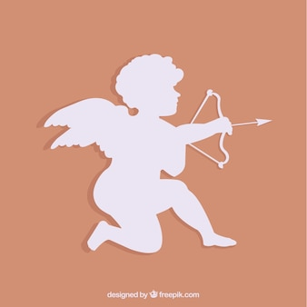 White cupid silhouette