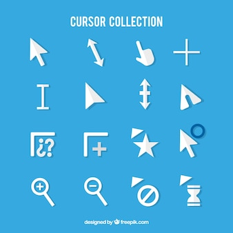 White cursor pack