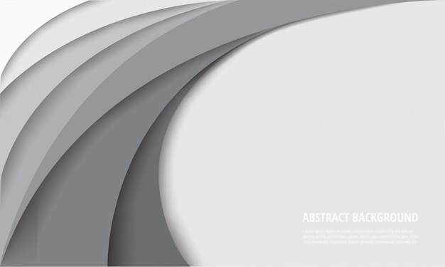 White curve template background